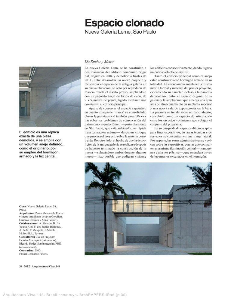 arquitectura viva 144 metro arquitetos 2